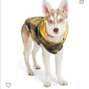 Go Fresh Pet reversible yellow dog raincoat